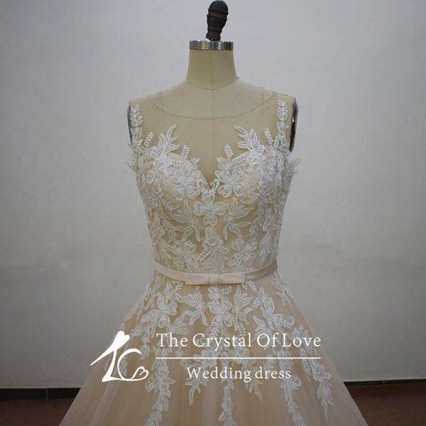 champagne-lace-wedding-dress