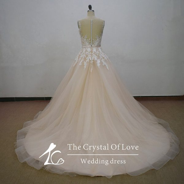 champagne-wedding-gown