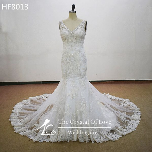 off-the-shoulder-v-neck-wedding-dress