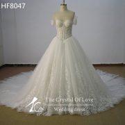 wonderful-short-sleeve-bridal-gown