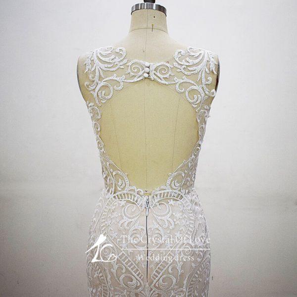 strapless-champagne-wedding-dress